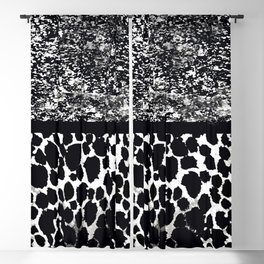 Animal Print Leopard Gray White and Black Blackout Curtain