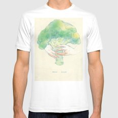 Broccoli bouquet MEDIUM Mens Fitted Tee White