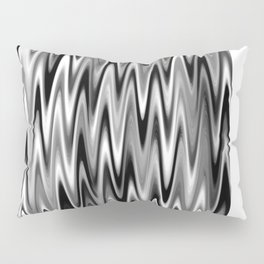 WAVY #1 (Black, White & Grays) Pillow Sham