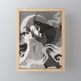 Krampus and Perchta III Framed Mini Art Print