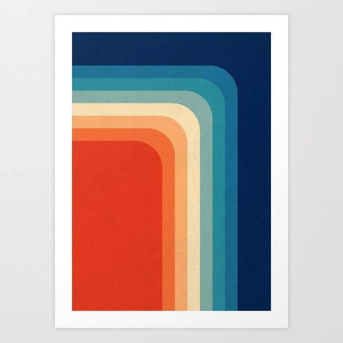 Retro 70s Color Palette III Art Print