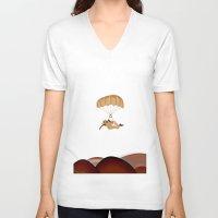 kiwi V-neck T-shirts featuring kiwi by mark ashkenazi