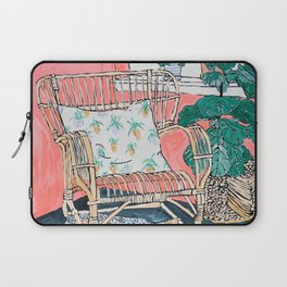 Cane Chair in Pink Interior Laptop Sleeve