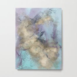 Teal, Purple, Gold Geode Metal Print