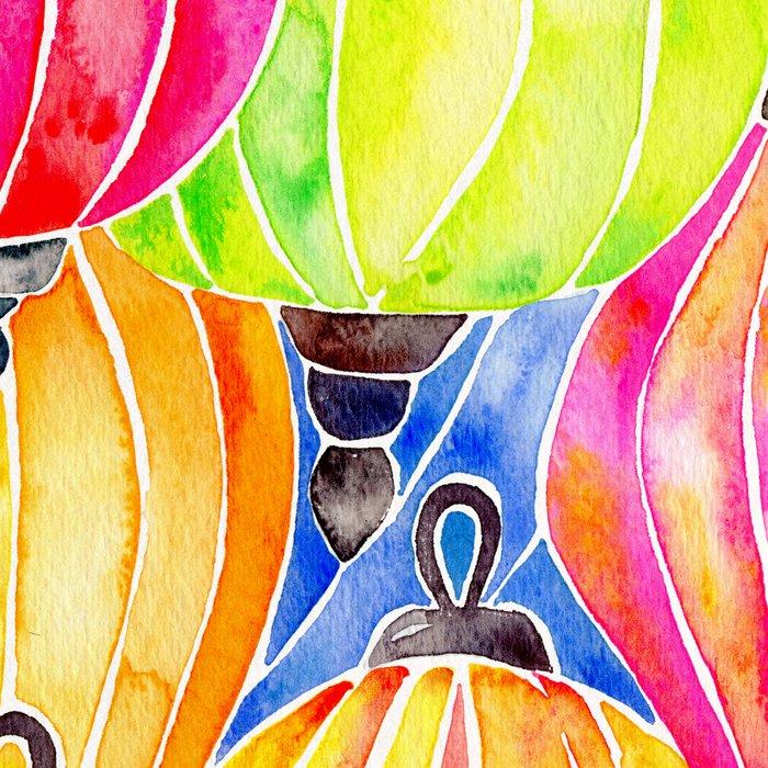 Vietnamese Rainbow Lanterns Leggings