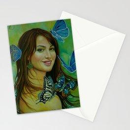 Teimuraz Kharabadze - Teimuraz Kharabadze. woman and butterflies. Stationery Cards