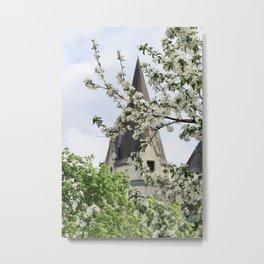 castle in the Spring Metal Print