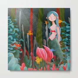 BTATO_Mermaid Metal Print