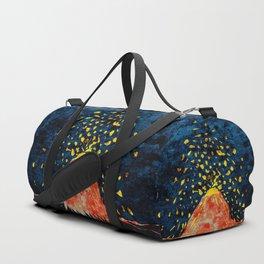 Erupting volcano Duffle Bag