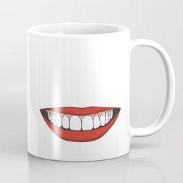Smiling female mouth with healthy teeth Coffee Mug