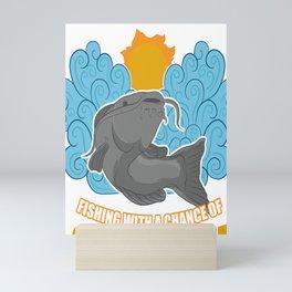 Fisher Fishing Flathead Weekend Forecast Catfish Mini Art Print