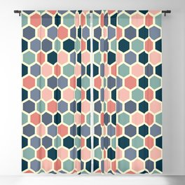 Colorful honeycomb design Blackout Curtain