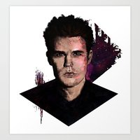 wesley bird Art Prints featuring Paul Wesley by DijaDalmaArt