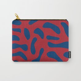 Red and blue cow print Carry-All Pouch