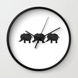 Three Baby Elephants Wall Clock