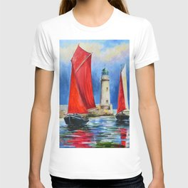 View of the lighthouse T-shirt
