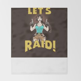 Let's Raid! Throw Blanket
