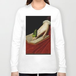 Gentle Reader Cropped Art Long Sleeve T-shirt