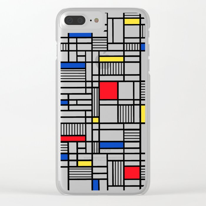 Map Lines Mond Clear iPhone Case
