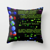biology Throw Pillows featuring Conquer Biology by Leone Bachega