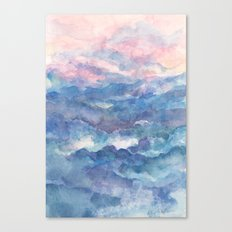 Distant View- 遠望 : watercolor Canvas Print