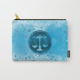 Libra Zodiac Sign Air Element Carry-All Pouch