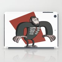 planet of the apes iPad Cases featuring Caesar - Dawn of the Planet of the Apes Cartoon by Aaron Lecours