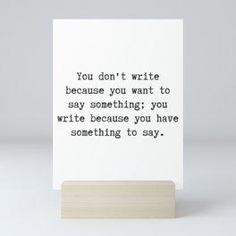 Something to Say Mini Art Print