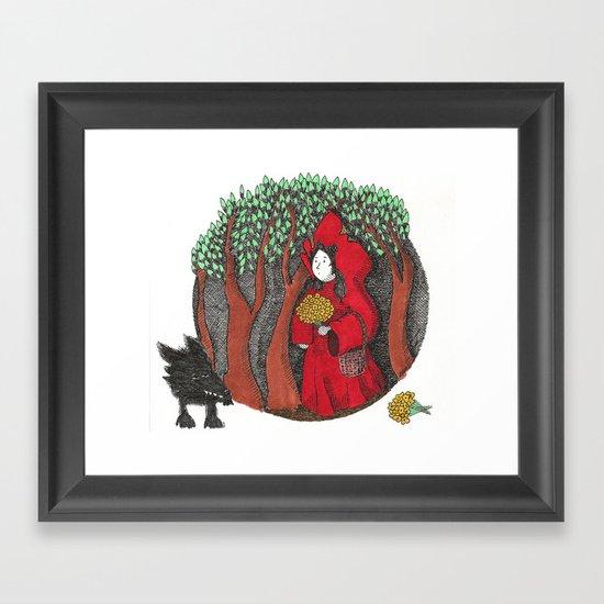Wolf Bait Framed Art Print