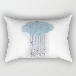 Rain in the woods Rectangular Pillow