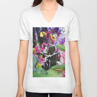 fairy tale V-neck T-shirts featuring Fairy Tale by John Turck