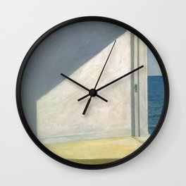 Rooms By The Sea Edward Hopper Painting Wall Clock