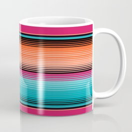 Traditional Mexican Serape in Teal Kaffeebecher