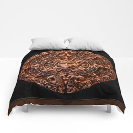Ancient Mayan Sun Calendar Comforters