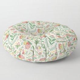 Swedish Floral - Cream Floor Pillow