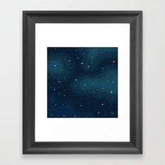 Pixel Marine Starlight Galaxy Framed Art Print