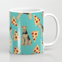 Airedale Terrier pizza pattern dog breed cute custom dog pattern gifts for dog lovers Coffee Mug