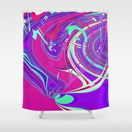 Re-Created  Sour Candy 7 by Robert S. Lee Shower Curtain