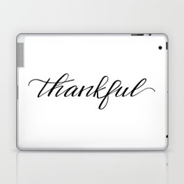 Thankful Calligraphy Laptop & iPad Skin