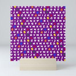 Abc's purple! Mini Art Print