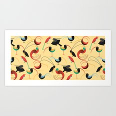 Birds of paradise. Art Print