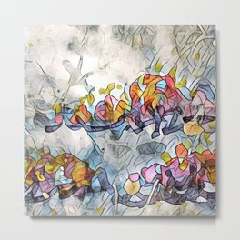 Splashes Of Stained Glass by CheyAnne Sexton Metal Print