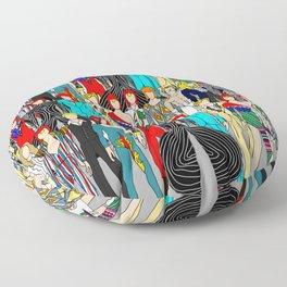 Rock Stars Heroes LV Gray Floor Pillow