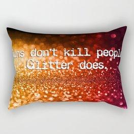 Guns versus glitter Rectangular Pillow