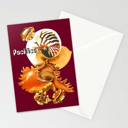 Pacifica 1 - South Pacific Seashells Stationery Cards