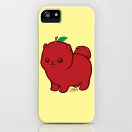 Apple Red Pom de Terrier iPhone Case