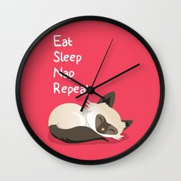 Cat's Life Wall Clock