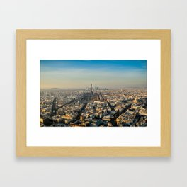Eiffel Tower in Paris from Montparnasse  Framed Art Print