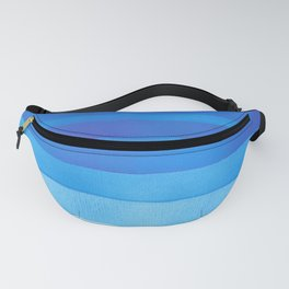 Blue layers abstract Fanny Pack