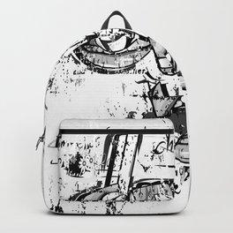 graffiti crazy black and white Backpack